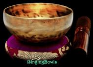 """Tibetan Singing Bowl #9548: CB 4 1/2"""",  B4 & F6."""