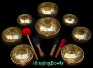 Tibetan Singing Bowl Set #147