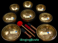 Tibetan Singing Bowl Set #134