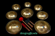Tibetan Singing Bowl Set #133