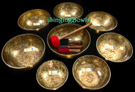 Tibetan Singing bowl Set #152