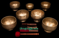 Antique Stem Singing Bowl Set #128