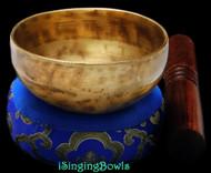 "New Tibetan Singing Bowl #8955 : CB 4 1/8"",  D5 & G6."