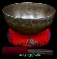 "Antique Tibetan Singing Bowl #9975: HW 8 7/8"", circa 18th Century, G2 & C#4."