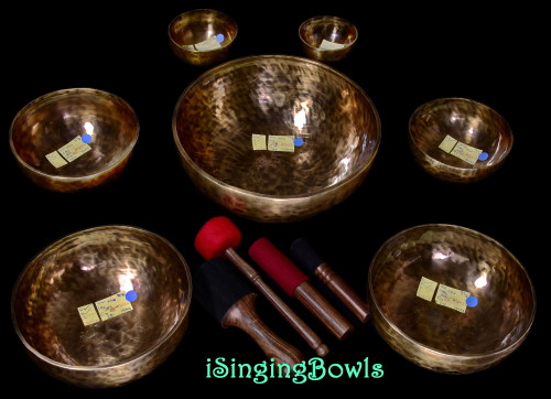 Tibetan Singing Bowl Set #168
