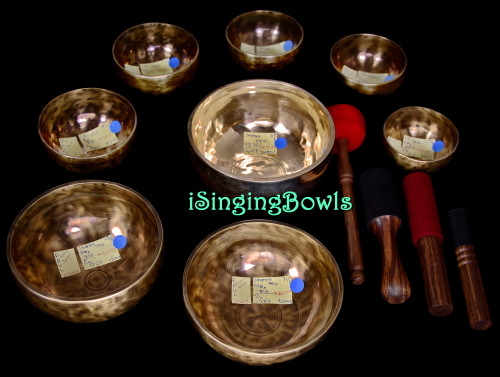 Tibetan Singing Bowl Set #165
