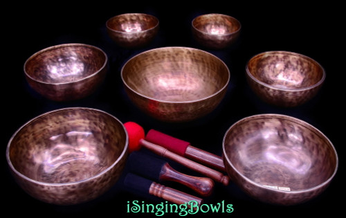 Tibetan Singing Bowl Set #170b