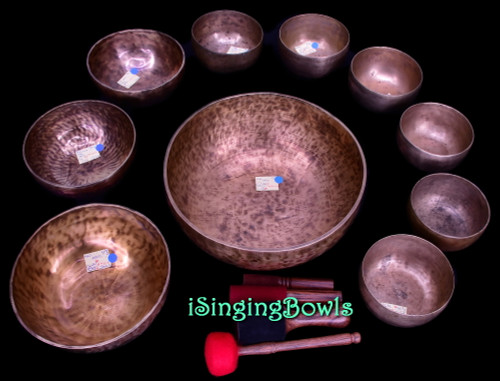 Singing Bowl Set #170b: Alexandre Tannous Method (10 pc.)