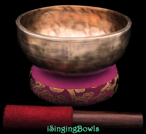 Tibetan Singing Bowl #10441 : DOUBLE-BLUE