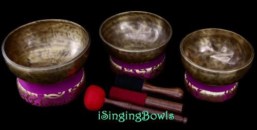 Tibetan Singing Bowl Set #181