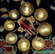 Tibetan Singing Bowl Set 1: Master-Healing Crown Chakra Diatonic (8 pc).