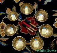 Tibetan Singing Bowl Set 6: Heart Chakra Master-Healing (7 pc).