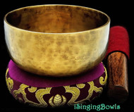 "Tibetan Meditation SINGING BOWL #2: Harmonically-balanced, 4 3/8 - 4 3/4""."