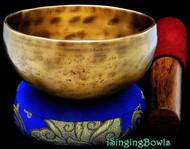 "Tibetan Meditation SINGING BOWL #5: Harmonically-balanced, 5 3/4 - 6 1/4""."