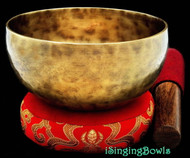 "Tibetan Meditation SINGING BOWL #6: Harmonically-balanced, 6 3/8"" - 6 5/8""."