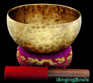 "New Tibetan Singing Bowl #7985 : Thadobati 7 3/8"",  G#3 & C#6."