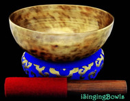 "New Tibetan Singing Bowl #8087 : Thadobati 7 1/2"", Contemporary, G+10 & C#-8."