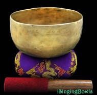 """Antique Tibetan Singing Bowl #7914: Thado 6 7/8"""", ca. 18th Century, G#3 & C#5 ."""
