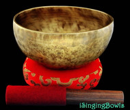 "New Tibetan Singing Bowl #8019 : Thadobati 7 3/8"",  A#3 & E5."