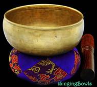 "Antique Tibetan Singing Bowl #8272 :  Cup 5 1/2"", circa 17th Century, D4 & G#5."