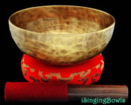 "New Tibetan Singing Bowl #8085 : Thadobati 7 3/8"", Contemporary, F3 & B5."