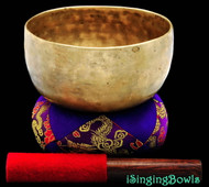 "Antique Tibetan Singing Bowl #8057 : Thado 6 1/2"", ca.18th., A#3 226 & D#5 639."