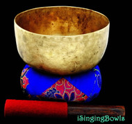 "Antique Tibetan Singing Bowl #8287 : Thado 6 3/4"", ca. 18th Century, F#-4 & A#+6."
