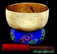 "Antique Tibetan Singing Bowl #8288: Thado 7 1/8"", ca. 18th Century, G#3 & D5."