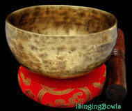 "New Tibetan Singing Bowl #8163 : Cup 5 1/4"", Contemporary, F#4 375 & C6 1049"