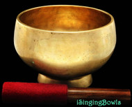 "Antique Tibetan Singing Bowl #8303 : Stem 6 3/4"", circa 18th Century, D#4 & G#3."