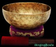 "New Tibetan Singing Bowl #8098 : Thadobati 7 7/8"",  F3 & B4."