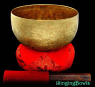 "Antique Tibetan Singing Bowl #8266 : Thado 6 1/2"", circa 18th Century, G#3 & D5."