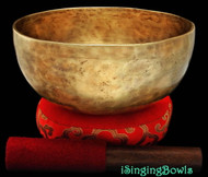 "New Tibetan Singing Bowl #8017b : Thadobati 7 7/8"",  F#3 & C5."