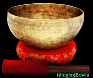 "New Tibetan Singing Bowl #8024 : Thadobati 7 5/8"",  F#3 & B5."