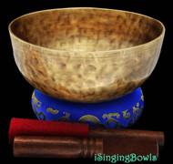 "New Tibetan Singing Bowl #8077 : Jambati 8 5/8"" Dia., Contemporary, A#2 & E4."