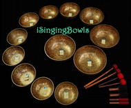 Tibetan Singing Bowl Set #14: Basso Profundo Super Set (12 pc.)