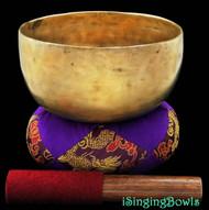 "Antique Tibetan Singing Bowl #7871  : Thado 7"", circa 18th Century ,  F#3 & B5."