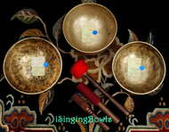 Tibetan Singing Bowl Set #42: Triad (3 pc.)