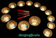 Tibetan Singing Bowl Set #35: Chromatic (14 pc.)