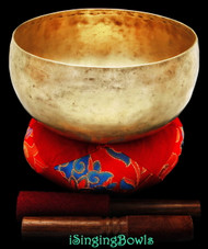 "Antique Tibetan Singing Bowl #8562 : Lotus 8 1/4"", circa 19th Century, A2 & D#4 ."
