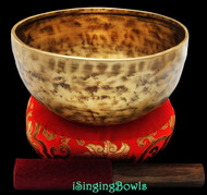 "New Tibetan Singing Bowl #8437 : Thadobati 7 1/2"", F#3 & C6."