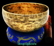 New Tibetan Singing Bowl #8448 : Cup 5 3/4', Contemporary, F4 & B5.