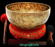 "New Tibetan Singing Bowl #8492 : Jambati 9 3/4"" Diameter, Contemporary, B2 & F#4."