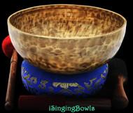 "New Tibetan Singing Bowl #8493 : Jambati 10 1/2"" Diameter, A#2 & E4 ."