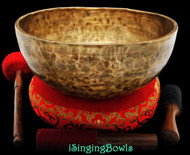 "New Tibetan Singing Bowl #8501 : Jambati 12"" Diameter, Contemporary, G2 & D4."