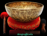 "New Tibetan Singing Bowl #8502 : Jambati 11 1/8"" Diameter, A#2 & F5."