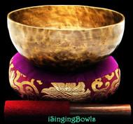 "New Tibetan Singing Bowl #8468 : Thadobati 7 3/4"", Contemporary, F3 & B4."