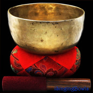 "Antique Tibetan Singing Bowl #7701 : Thado 7 1/4"",circa 18th Century, G3 & C#5."