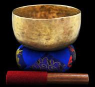 """Antique Tibetan Singing Bowl #7887 : Thado 7 1/8"""", circa 18th Centruy, A3 & D#5."""
