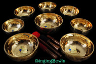 Tibetan Singing Bowl Set #54: Jhumka (8 pc.)